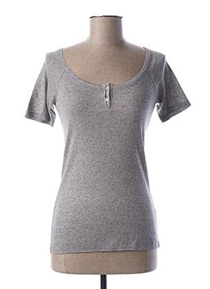 T-shirt manches courtes gris TEENFLO pour femme