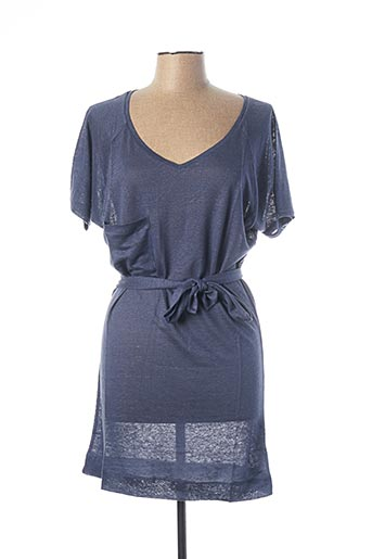 Robe courte bleu TEENFLO pour femme