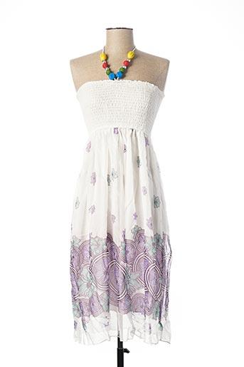 Robe mi-longue violet F&2 pour femme