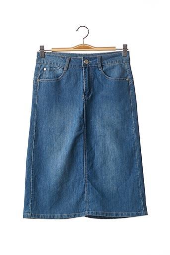 Jupe mi-longue bleu BS JEANS pour femme