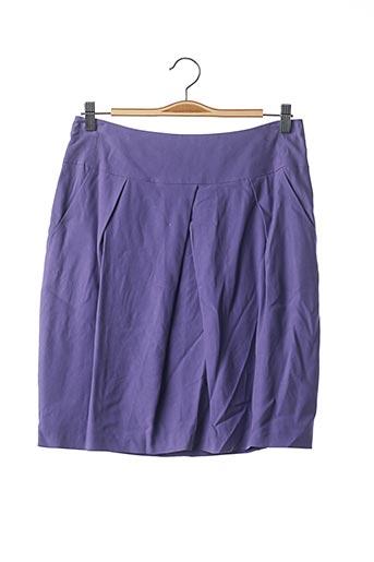 Jupe courte violet TEENFLO pour femme