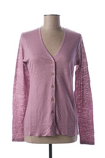 Gilet manches longues violet STEFAN GREEN pour femme