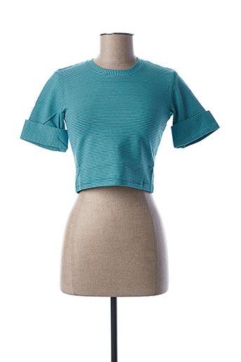 T-shirt manches longues bleu TEENFLO pour femme