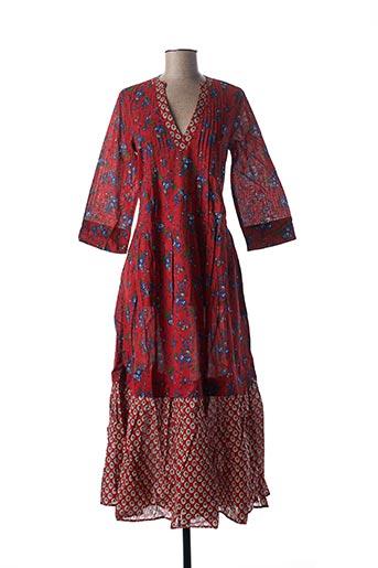 Robe longue rouge RHUM RAISIN pour femme
