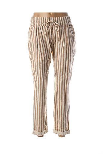 Pantalon casual beige RHUM RAISIN pour femme