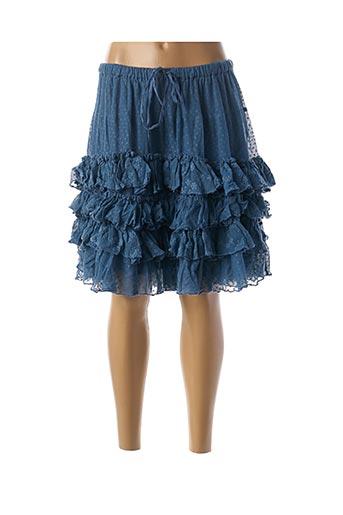 Jupe mi-longue bleu RHUM RAISIN pour femme