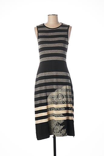 Robe pull noir DESIGUAL pour femme