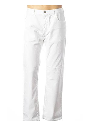 Jeans coupe droite blanc ARMANI pour homme