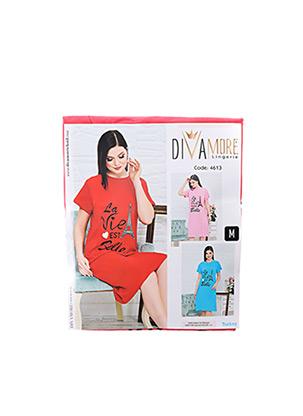 Chemise de nuit rouge DIVAMORE pour femme