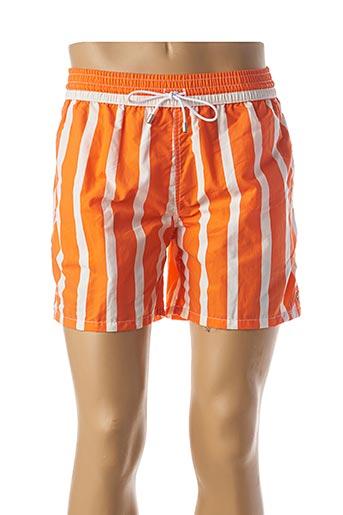 Short de bain orange BAYAHIBE pour homme