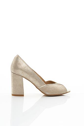 Sandales/Nu pieds jaune COR BY ANDY pour femme