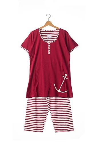 Pyjama rouge CHRISTIAN CANE pour femme
