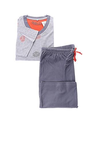Pyjashort bleu CHRISTIAN CANE pour homme