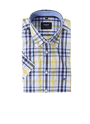 Chemise manches longues jaune CHATEL pour homme