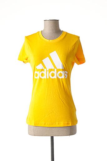 T-shirt manches courtes jaune ADIDAS pour femme