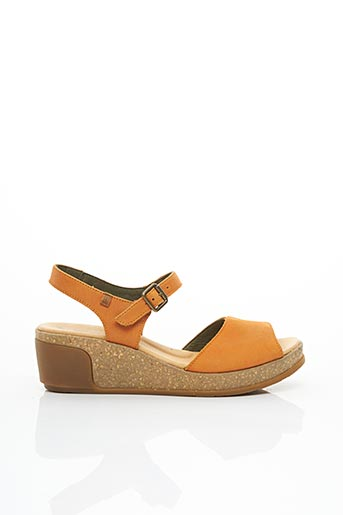 Sandales/Nu pieds orange EL NATURALISTA pour femme
