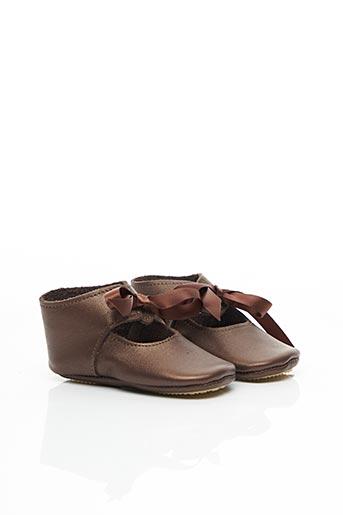 Chaussons/Pantoufles marron PATT'TOUCH pour fille