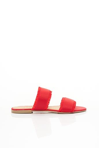 Mules/Sabots rouge PIECES pour femme