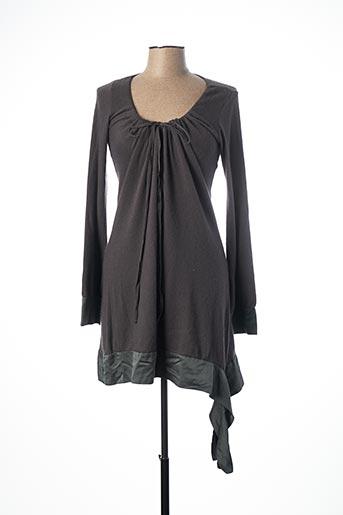Robe courte marron LA FEE MARABOUTEE pour femme