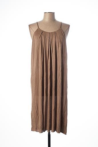 Robe mi-longue marron SCHOOL RAG pour femme