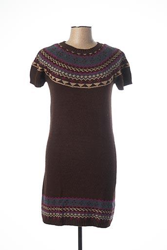 Robe mi-longue marron TEDDY SMITH pour femme