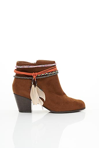 Bottines/Boots marron CHOCOLATE SCHUBAR pour femme