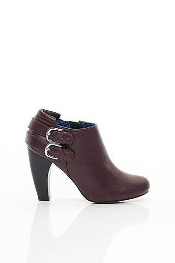 Bottines/Boots rouge CHOCOLATE SCHUBAR pour femme
