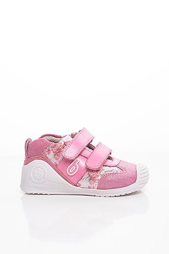 Baskets rose BIOMECANICS pour fille