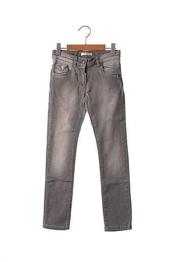 Jeans coupe slim gris MARESE pour fille