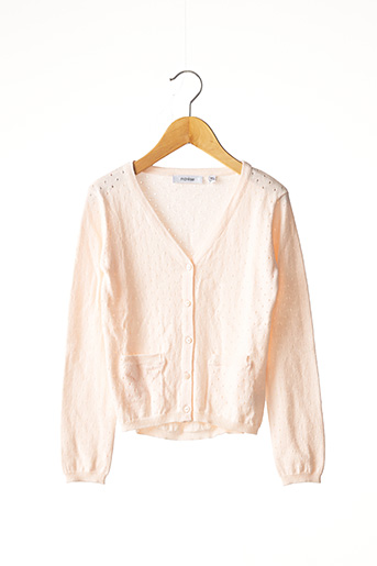 Gilet manches longues rose MARESE pour fille