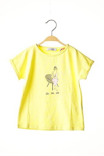 T-shirt manches courtes jaune MARESE pour fille