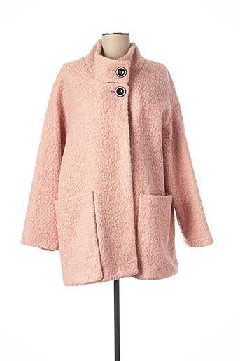 Manteau court rose ANDAMIO pour femme