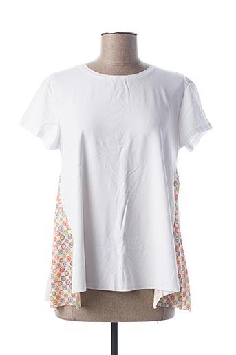 T-shirt manches courtes blanc B.YU pour femme