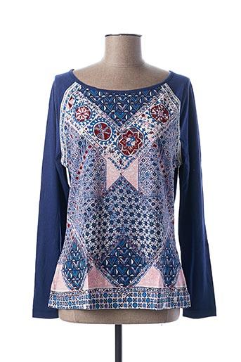 T-shirt manches longues bleu CAP JULUCA pour femme
