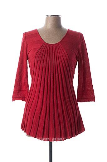 Pull tunique rouge ALDOMARTINS pour femme