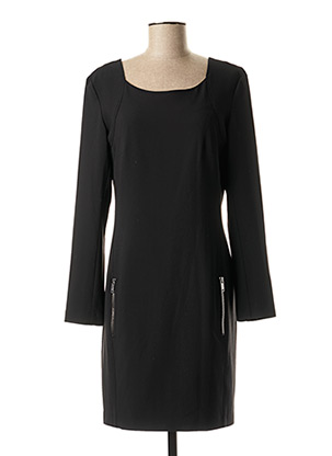 Robe mi-longue noir EVA KAYAN pour femme