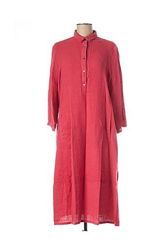 Robe mi-longue rose ELENA MIRO pour femme