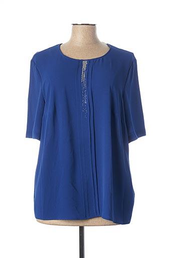 Blouse manches courtes bleu ERFO pour femme