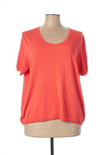 Pull col rond orange ESCORPION pour femme