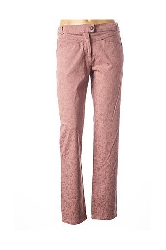 Pantalon casual rose EL INTERNATIONALE pour femme