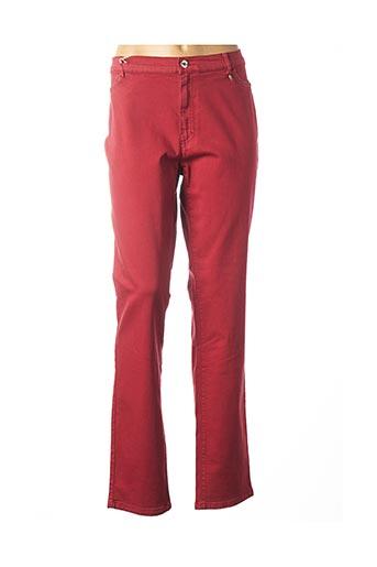 Pantalon casual rouge BRUNO SAINT HILAIRE pour femme