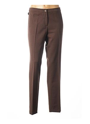 Pantalon chic marron BRUNO SAINT HILAIRE pour femme