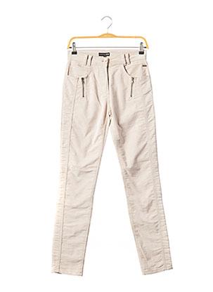 Pantalon casual beige EVA KAYAN pour femme