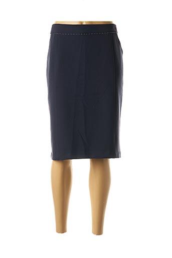 Jupe mi-longue bleu ANDAMIO pour femme