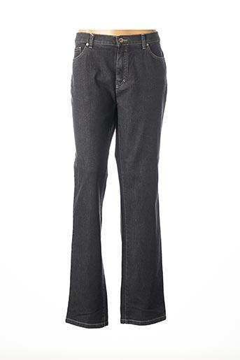 Jeans coupe droite gris BRUNO SAINT HILAIRE pour femme