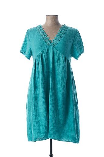 Robe mi-longue bleu BY COCO pour femme