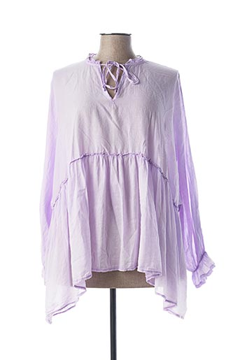 Tunique manches longues violet BY COCO pour femme