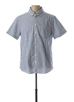 Chemise manches courtes bleu PADDOCK'S pour homme