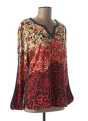T-shirt manches longues rouge AVENTURES DES TOILES pour femme