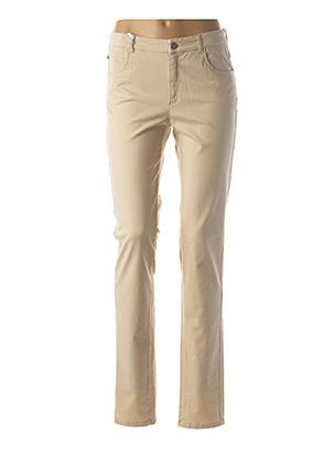 Pantalon casual beige DIVUIT pour femme